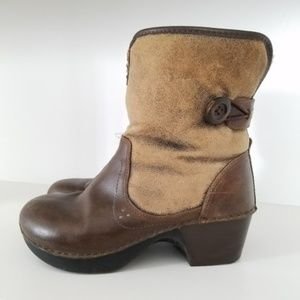 Dansko Fur lined Brown Leather boots